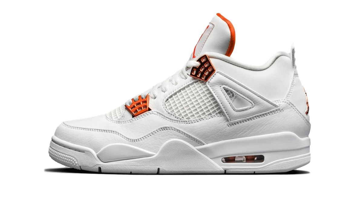Nike Air Jordan 4 Retro White Orange