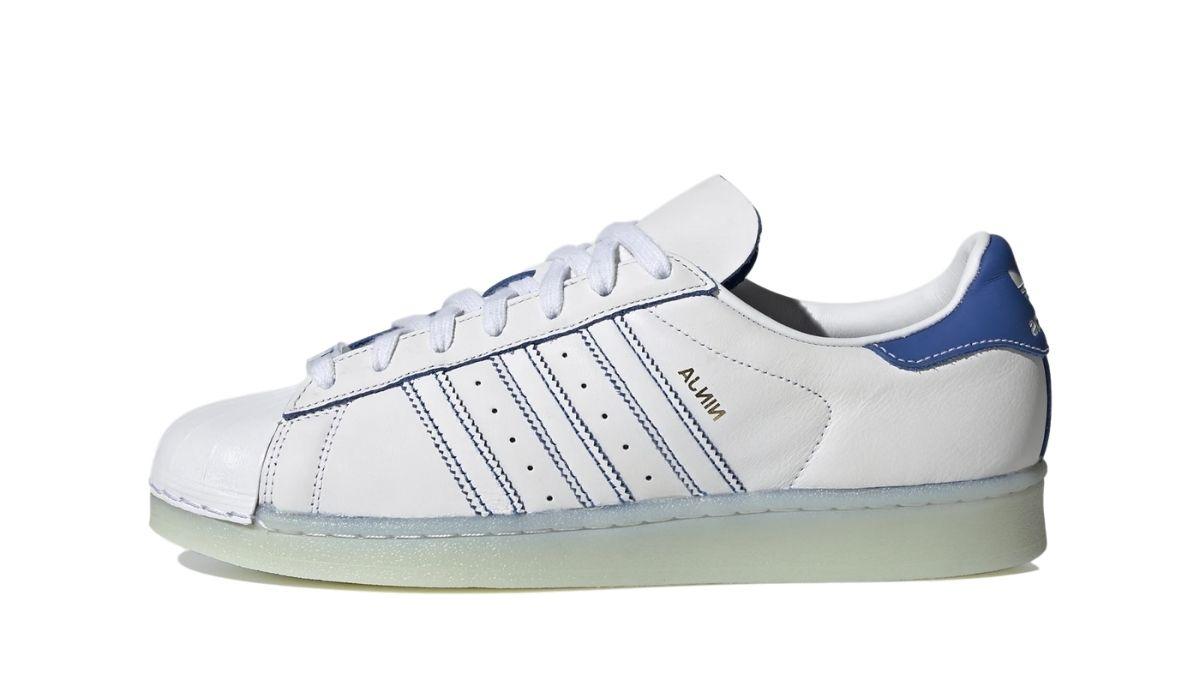 Ninja x adidas Superstar White Blue