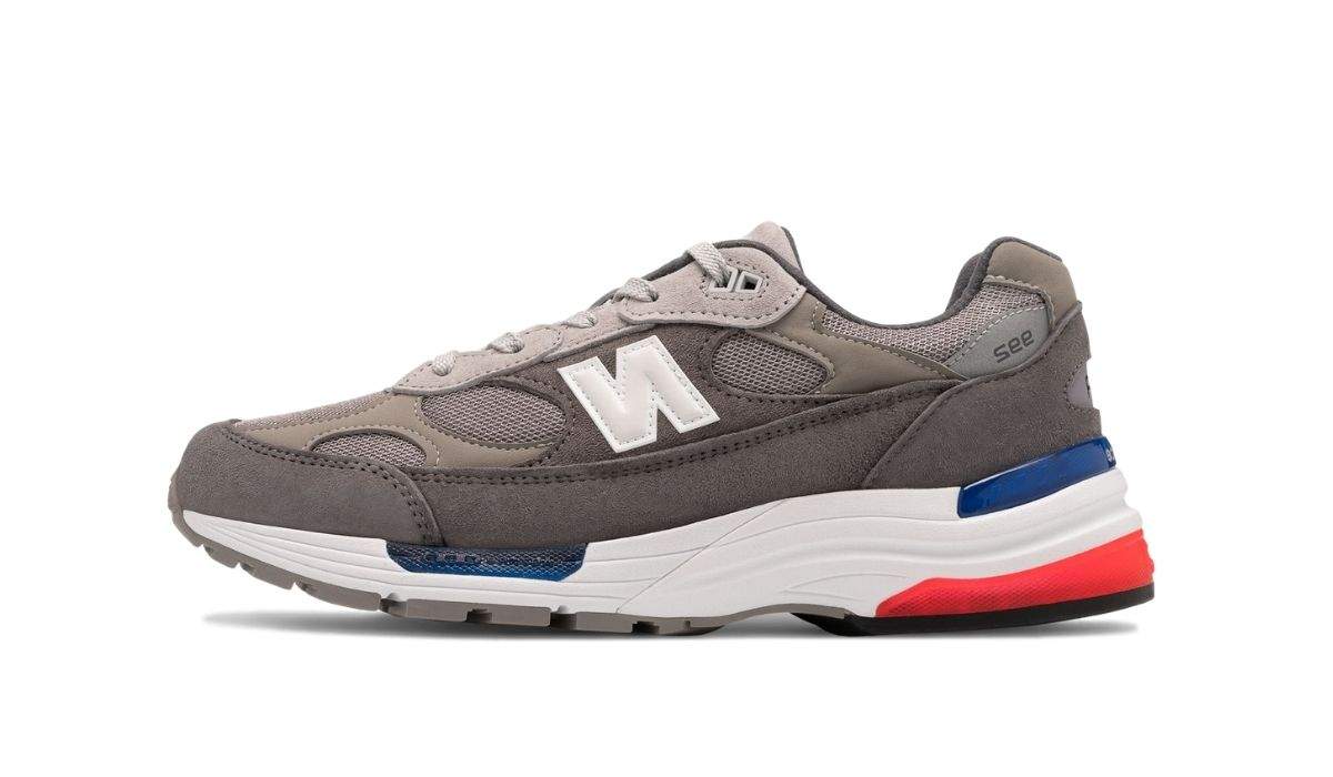 New Balance 992 Grey Blue Red