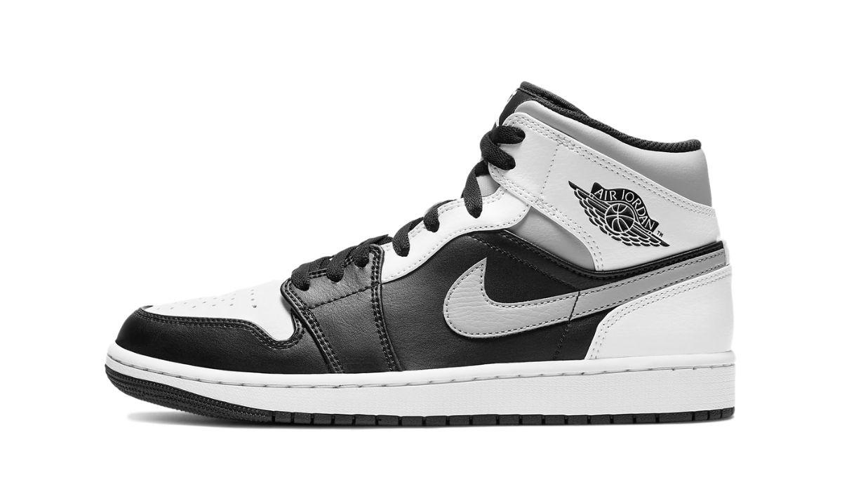 Air Jordan 1 Mid Sort Hvid