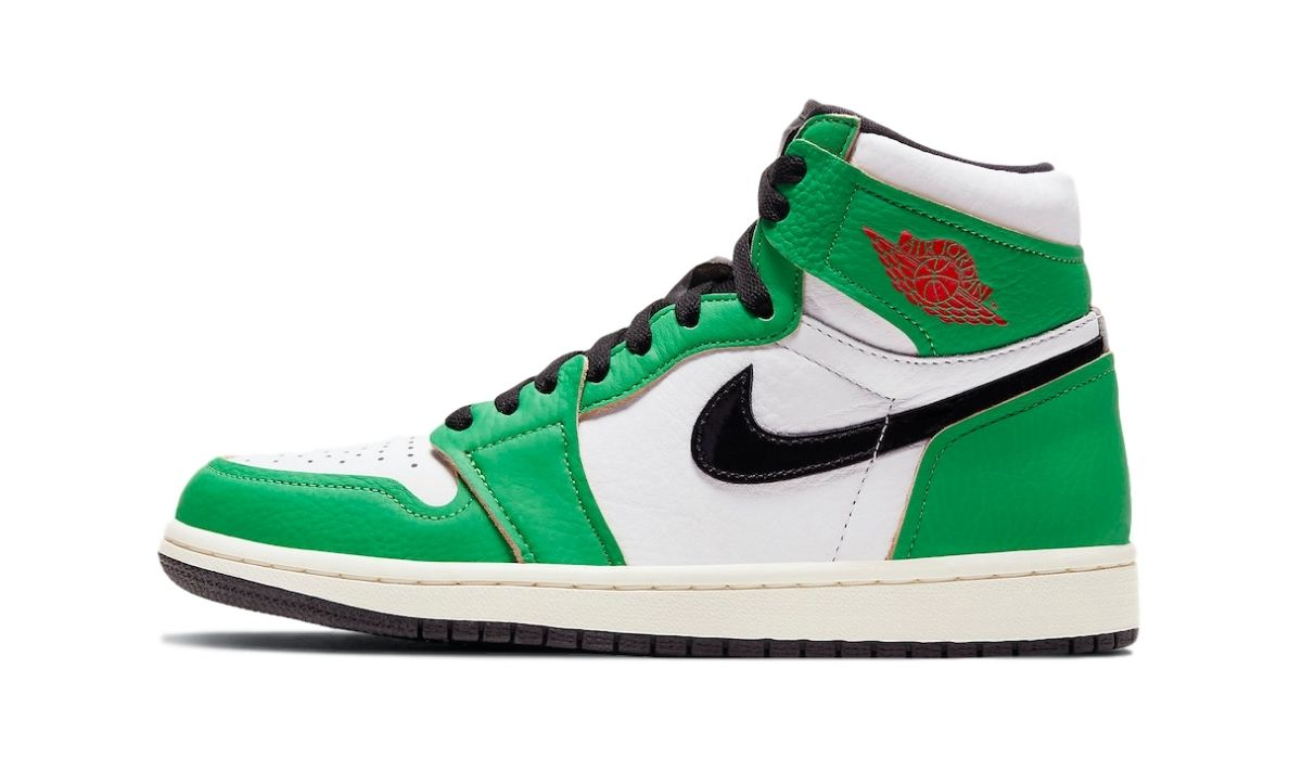 Air Jordan 1 High Grøn Sort Rød