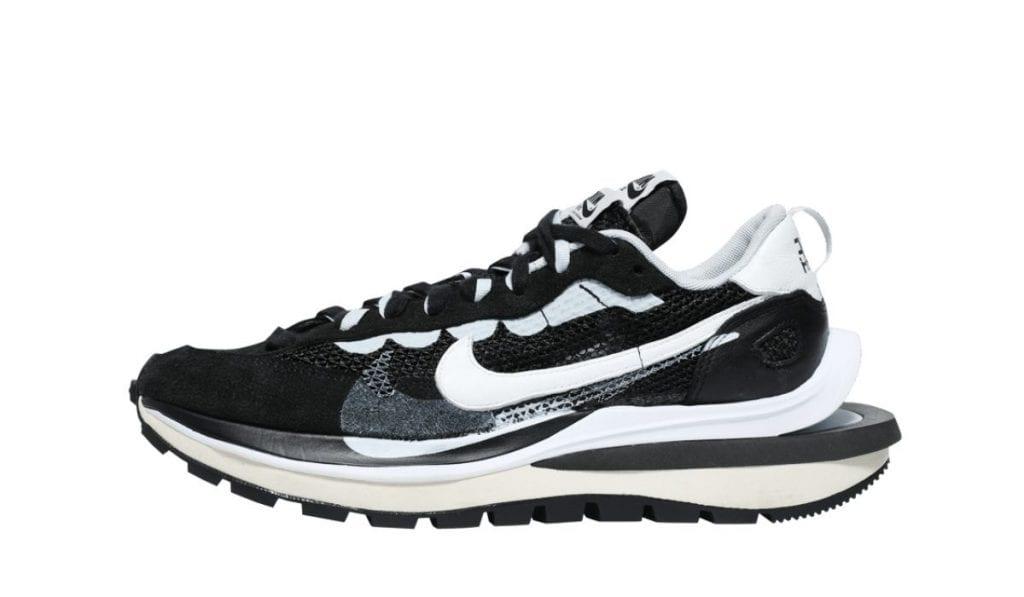 Sacai Nike Vaporwaffle sort hvid